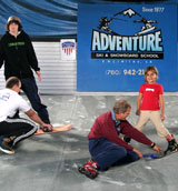 Adventure Ski & Snowboard Tution on our unique Revolving Carpet